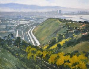 "Carolyn Hesse-Low - ""The Way Downtown"" - 11""x 14"" - Oil (Award of Merit)"