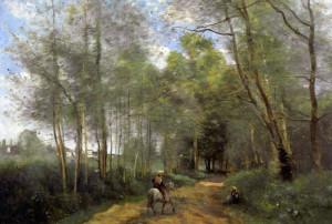 """""""Ville d Avray"""" - 21.73""""x 32"""" - Oil (1873)"""