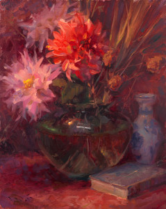 """""""Chrysanthemums"""" - 20""""x 16"""" - Oil  (3rd Place; 2014 Richeson 75 Still Life and Floral Exhibit)"""