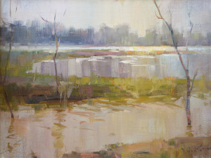 """""""Colorful Flood"""" - 14""""x 18"""" - Oil  (Award of Merit; 2014 First Brush of Spring)"""