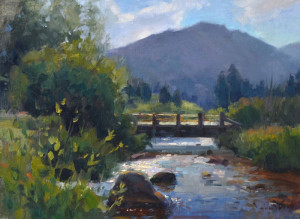 """""""Morning on the Big Thompson"""" - 12""""x 16"""" - OIl"""