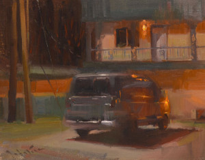 """""""Relic at Night"""" - 11""""x 14"""" - Oil  (Best of Show and Artist's Choice Award; 2014 Plein Air on the White River)"""