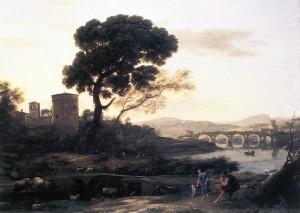 "Claude Lorrain - ""Landscape with Shepherds"" - 29.13""x 38.19"" - Oil"