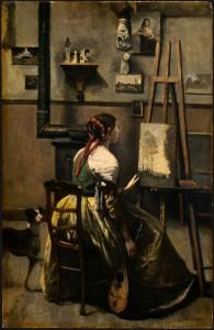 """The Artist's Studio"" - 16""x 13"" - Oil  (1865-68)"