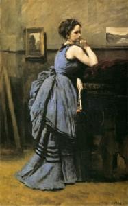 """""""Lady in Blue"""" - 31.5""""x 19.88"""" - Oil   (1874)"""