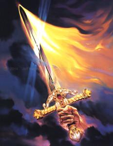 """Sword of the Spirit"" - 40""x 30"" - Oil"
