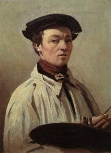 """Self-Portrait with Palette"" - 13.38""x 9.75"" - Oil  (1835)"