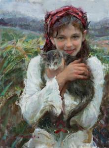 "Daniel Gerhartz - ""Holding Her Close"" - 24""x 18"" - Oil"