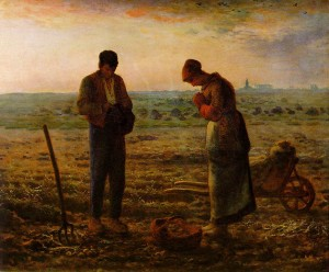 """The Angelus"" - 21.75""x 26"" - Oil (1857-59)"