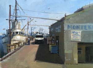"""""""Monterey Wharf"""" - (Plein Air) - 12""""x 16"""" - Oil"""