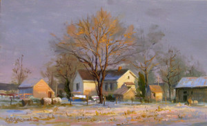 """""""Another Snow Coming"""" - 9""""x 15"""" - Oil"""