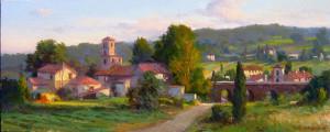 """Tuscan Village"" - 12""x 30"" - Oil"