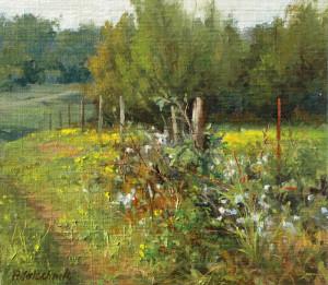 """""""Wild Blackberries"""" - 9.25""""x 10.25"""" - Oil  (Plein air)"""