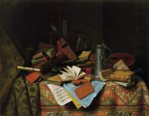 "William Harnett - ""A Study Table"" - 39.87""x 51.37"" - Oil  (1882)"