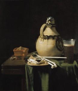 """Pieter van Anraadt - """"Still Life with Earthenware Jug"""" - """"26.5""""x 23.75"""" - Oil  (1658)"""