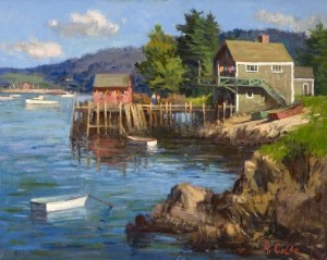 """Friendship, Maine Wharf"" - 16""x 20"" - Oil"