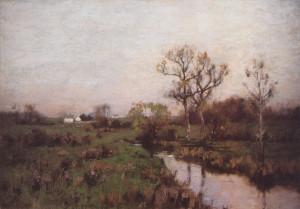 """""""Farm Landscape"""" - 14""""x 20"""" - Oil  (1882)"""