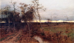 """""""The Waning Year"""" - 42""""x 72"""" - Oil  (1884)"""