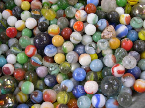 How about some marbles...or paintings of marbles?