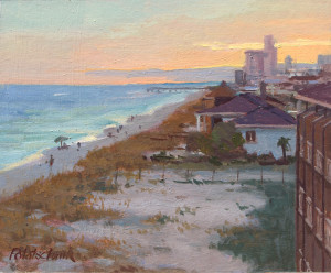 """""""Evening on the Beach"""" - 8""""x 10"""" - Oil  - $1950"""