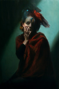 """Eleanor in Red"" - 36""x 24"" - Oil"