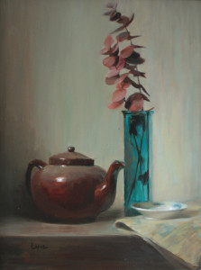 """Time for Tea"" - 18""x 24"" - Oil"