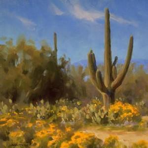 """""""Desert Blooms"""" - 10""""x 10"""" - Oil"""