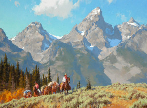 """""""Mountain Packers"""" - 30""""x 40"""" -  Oil"""