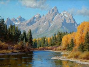 """""""Snake River Morning"""" - 12""""x 16"""" - Oil"""