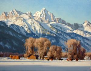 """Winter Ranch"" - 14""x 18"" - Oil"