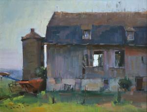 "Editor's Award - John Lasater - ""Country Barn"" - 14""x 18"""
