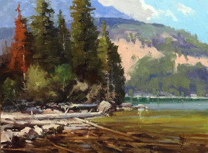 "Award of Merit - Rusty Jones - ""Highland Lake Cove"" - 12""x 16"""