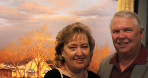 Long time collectors, Wilford and Carol Webb. Wilford was instrumental in helping me make the switch from illustration to fine art.