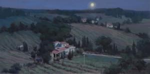 """Italian Vineyard"" - 16""x 27"" - Oil"