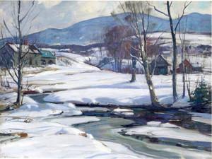 """""""Light Across the Valley"""" - 30""""x 36"""" - Oil"""