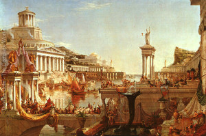"Thomas Cole - ""The Course of the Empire: The Consummation"" - 51""x 76"" - Oil"