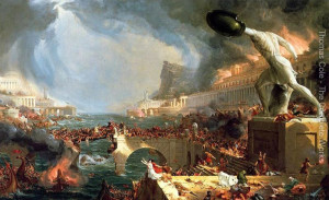 "Thomas Cole - ""The Course of the Empire: Destruction"" - 39.37""x 63.39"" - Oil - (1836)"
