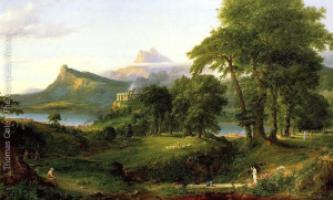 "Thomas Cole - ""The Course of the Empire: The Pastoral State"" - (1836)"