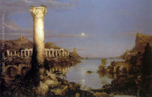 "Thomas Cole - ""The Course of the Empire: Desolation"" - 39.37""x 63"" - Oil"
