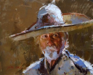 """""""Sombrero"""" - 16""""x 20"""" - Oil  (American Impressionists Society, Best of Show 2013)"""