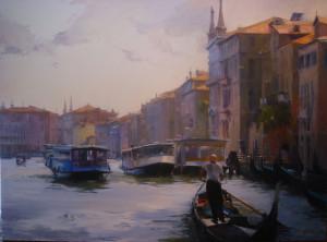 """""""Venetian Splendor"""" - 60""""x 72"""" - Oil"""