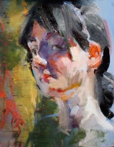 "Head sketch - 9""x 12"" - Oil"