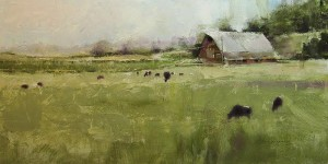 """The East Pasture"" - 10""x 20"" - Oil"