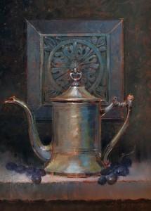 """Pewter Tea Pot"" - 12""x 9"" - Oil"