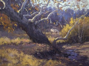 """""""Sycamores Near Patagonia"""" - 18""""x 24"""" - Oil"""