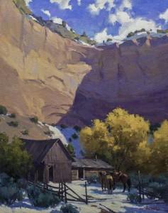 """Utah Cliffs and Corrals"" - 20""x 16"" - Oil"