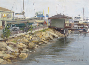 "The final result...""On the Dock of the Bay"" - 10""x 14"" - Oil"
