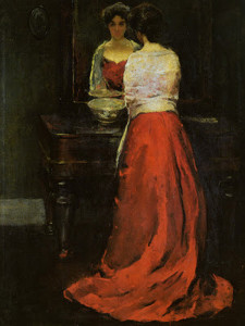 """""""Lady in Red"""" - 36""""x 28"""" - Oil"""