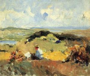 """""""Artist in Plein Air"""" - 20""""x 24"""" - Oil  (1910)"""