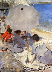 """""""By the Sea"""" - 50.5""""x 36"""" - Oil  (1900-05)"""